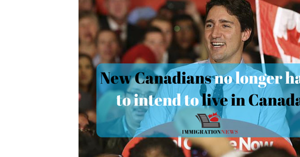 Citizenship revamp: New Canadians no longer have to intend to live in Canada